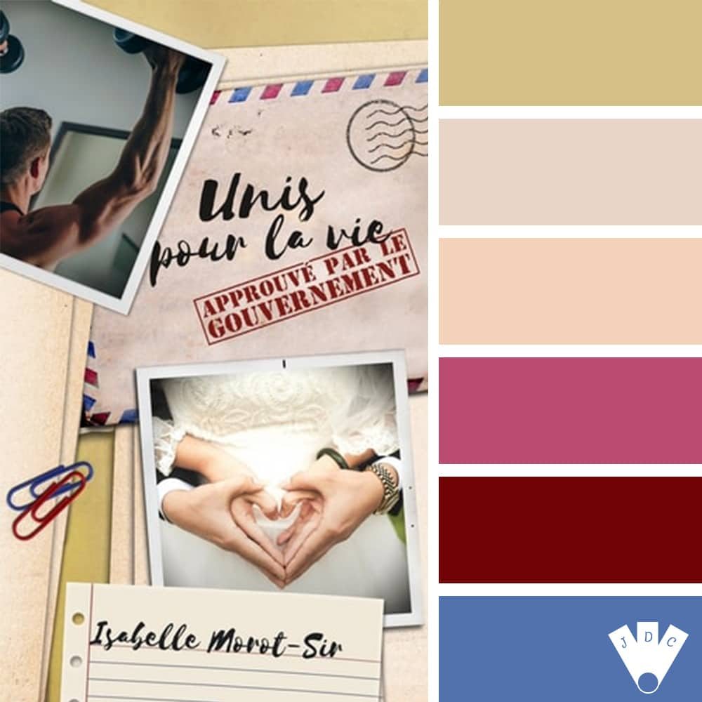 """Color palette du livre """"Unis pour la vie approuvé par le gouvernement"""" de l'auteure auto-édité Isabelle Morot-Sir"""