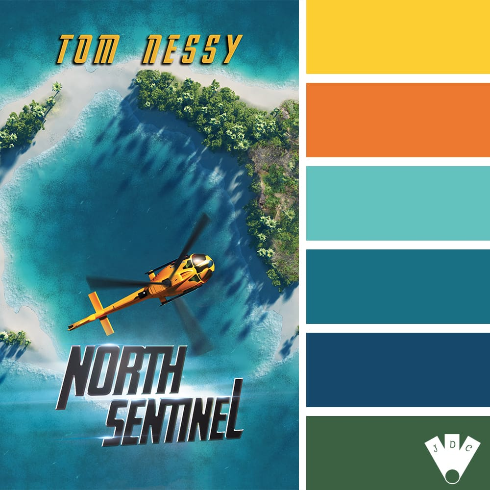 "Color palette du livre ""North sentinel"" de l'auteur Tom Nessy"