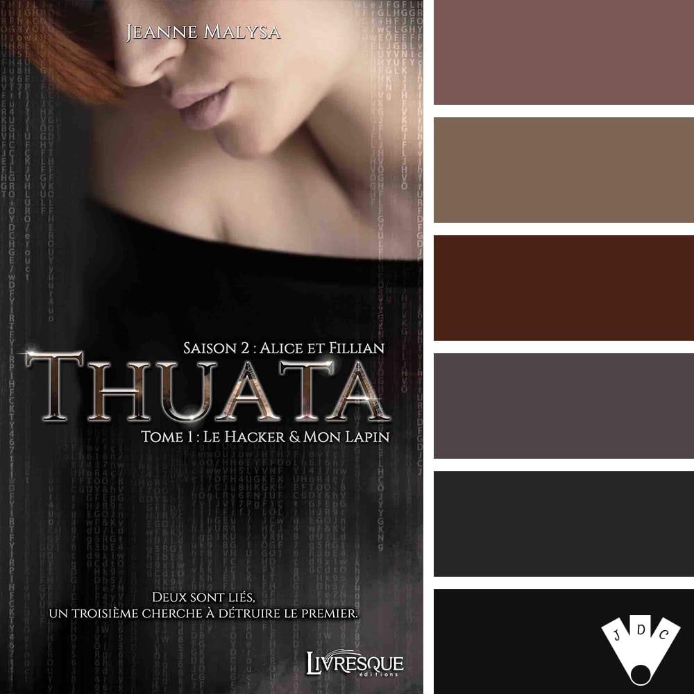 """Color palette du livre """"Thuata Saison 2 Tome 1"""" de l'auteure Jeanne Malysa"""
