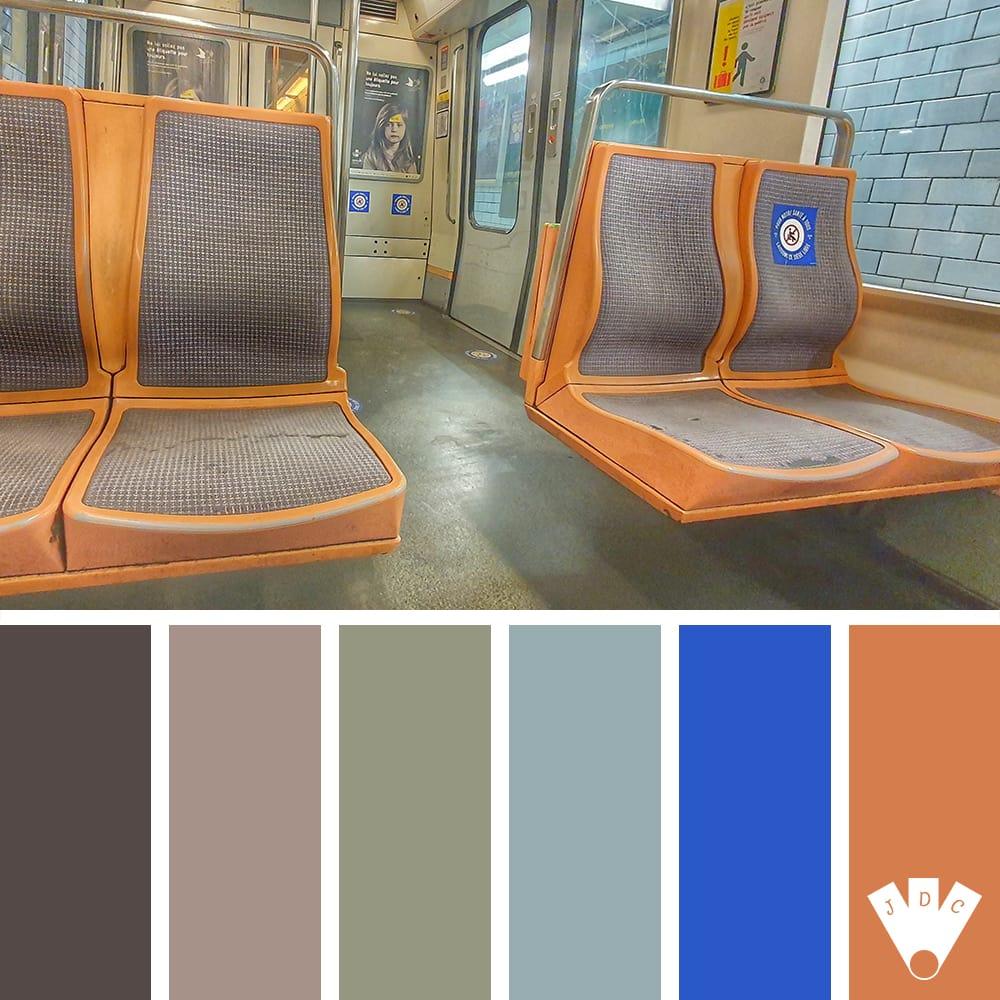 color palette d'une photo de callistta photographie. Le métro parisien en période de covid19
