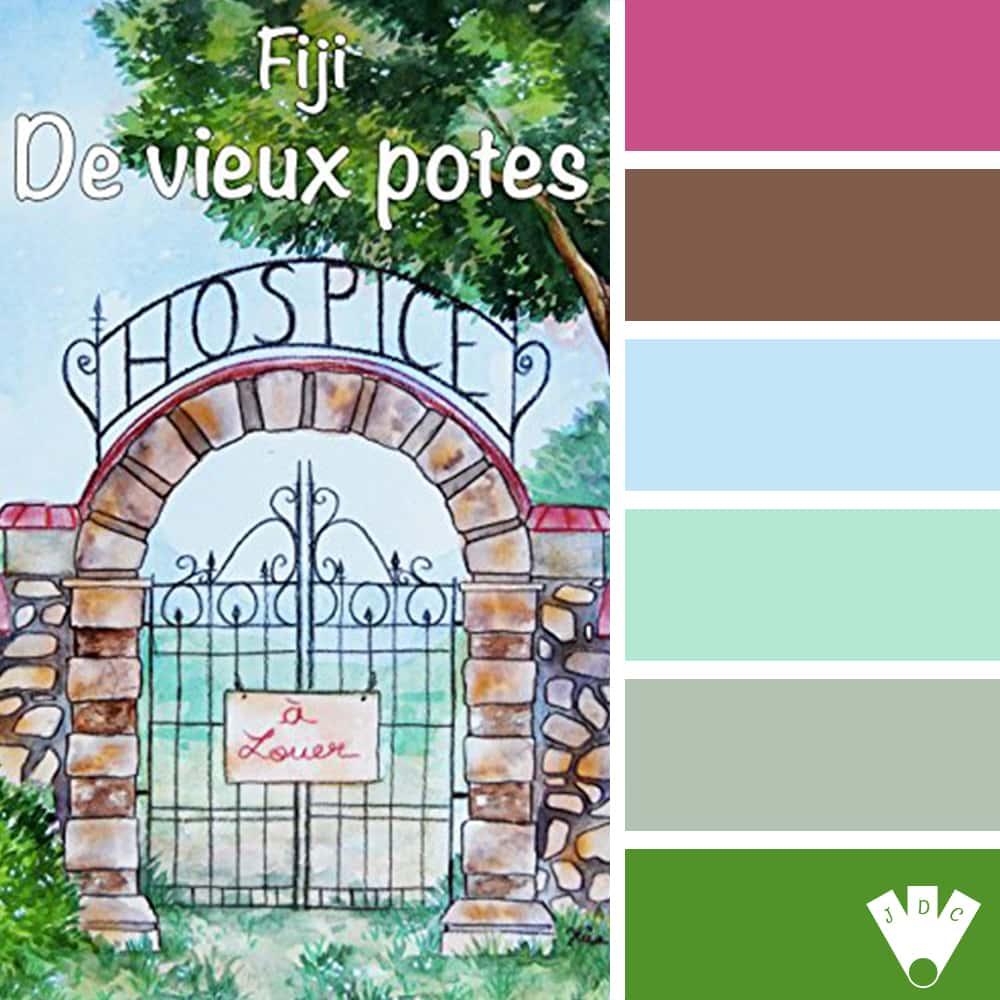 """Color palette du livre """"De vieux potes"""" de l'auteur Fiji"""