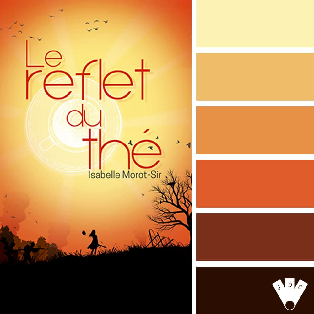 """Color palette du livre """"Le reflet du thé"""" d'Isabelle Morot-Sir"""