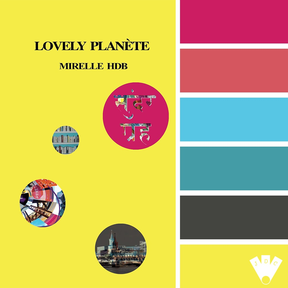"""Color palette du livre """"Lovely planète"""" de l'auteure Mirelle HDB"""