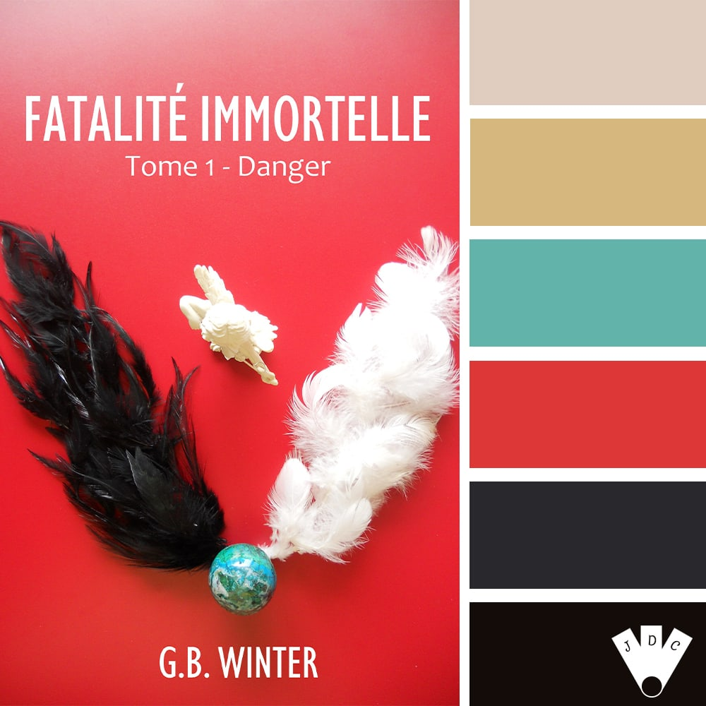 "Color palette du livre ""Fatalité immortelle T1 : Danger"" de l'auteure G.B. Winter"