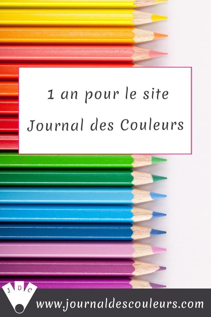 1 An Pour Le Site Journal Des Couleurs