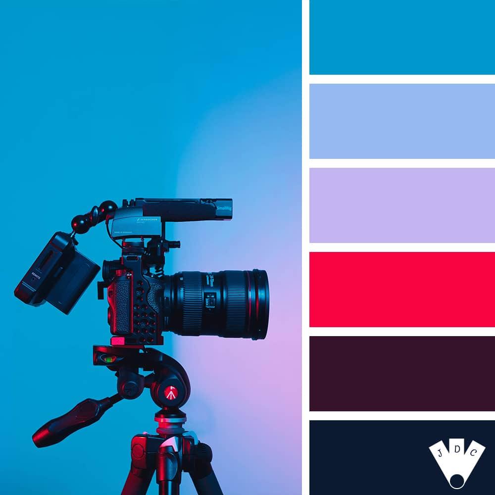 Color palette d'un appareil photo canon avec son matériel