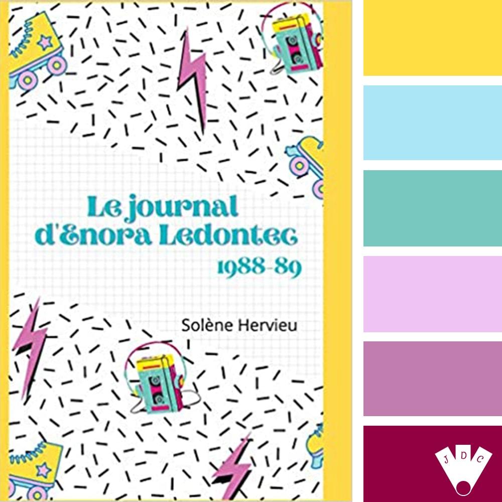 """Color palette du livre """"Le journa d'Enora Ledontec : 1988-89"""" de l'auteure Solène Hervieu"""