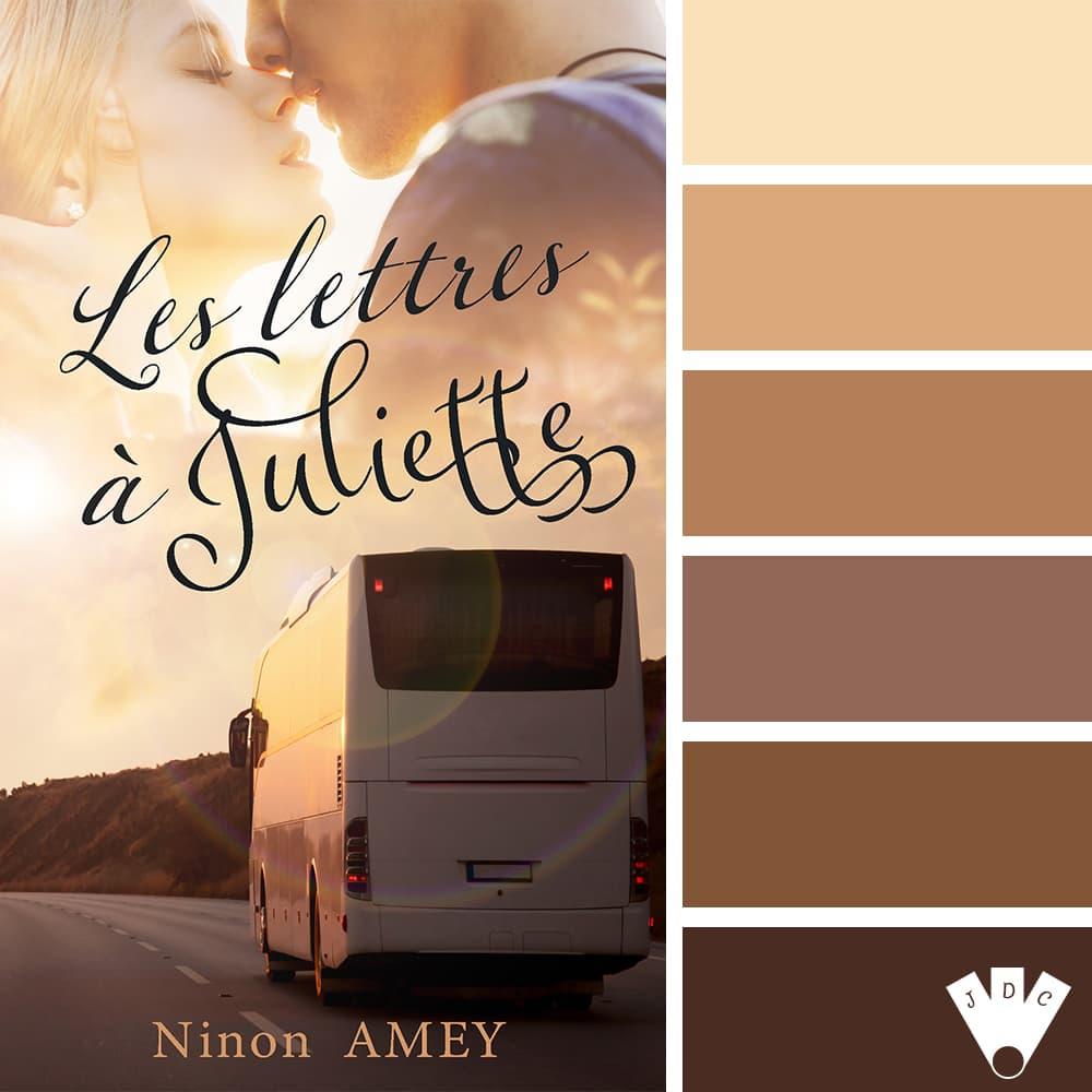 """Color palette du livre """"Les lettres à Juliette"""" de l'auteure Ninon Amey"""