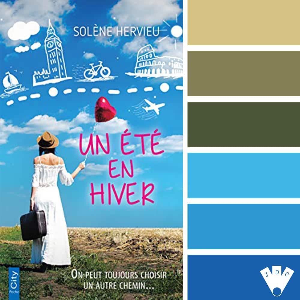 """Color palette du livre """"Un été en hiver"""" de l'auteure Solène Hervieu"""