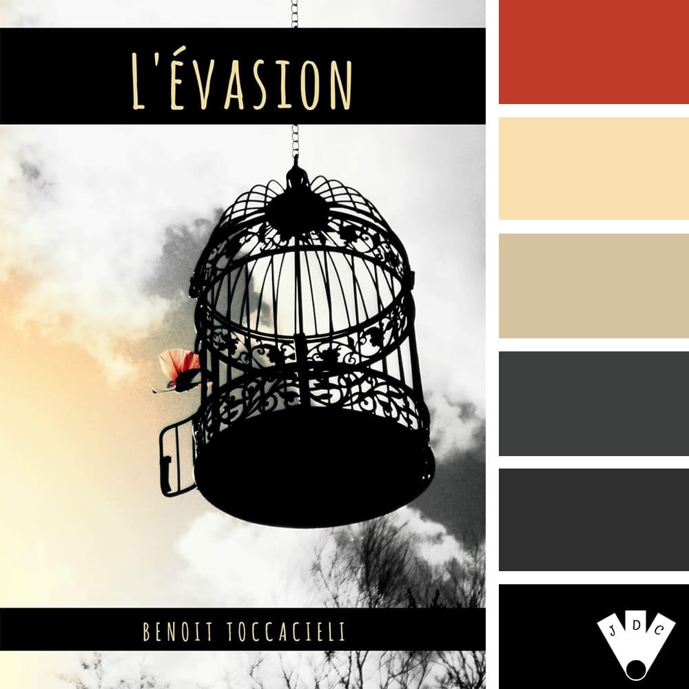 """Color palette du livre """"L'évasion"""" de l'auteur Benoit Toccacieli"""