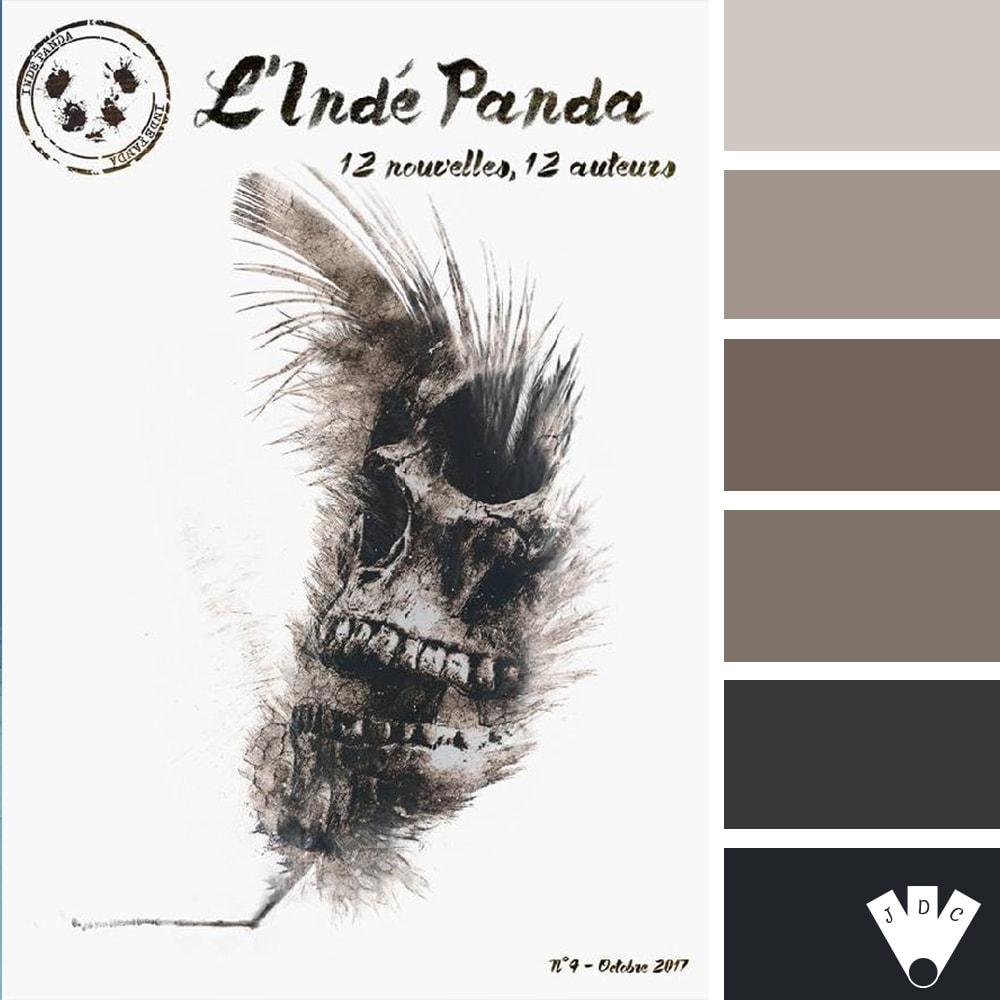 Color palette du magazine l'Indé Panda n°4