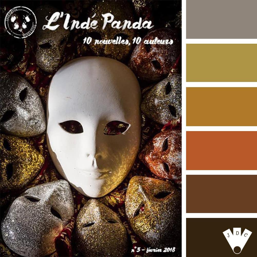 Color palette du magazine l'Indé Panda n°5