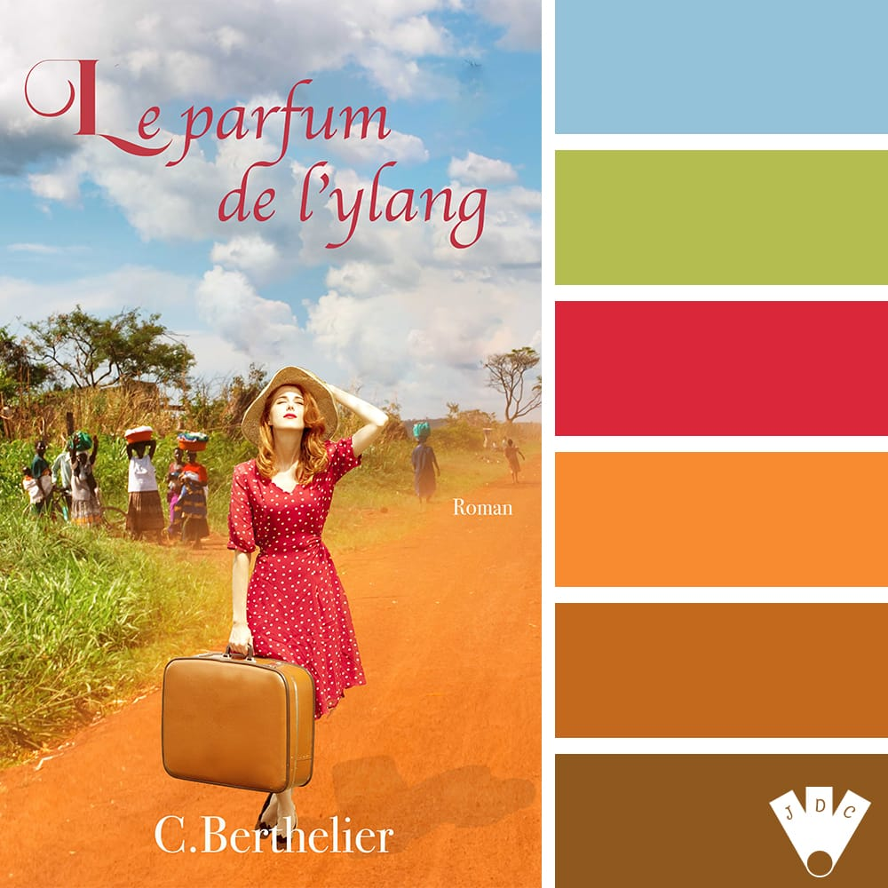 """Color palette du livre """"Le parfum de l'ylang"""" de l'auteure Catherine Berthelier"""