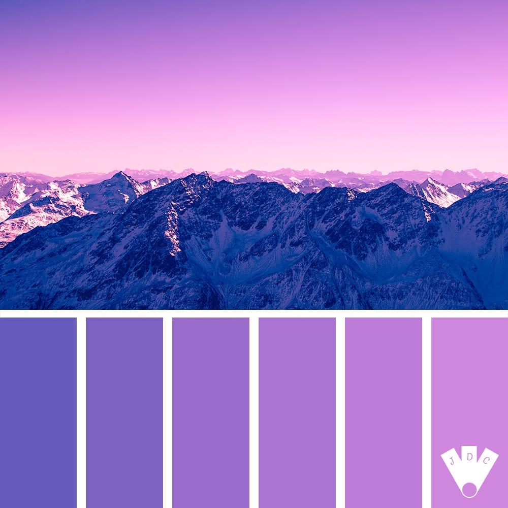 color palette à partir d'une photo d'un paysage de montagne