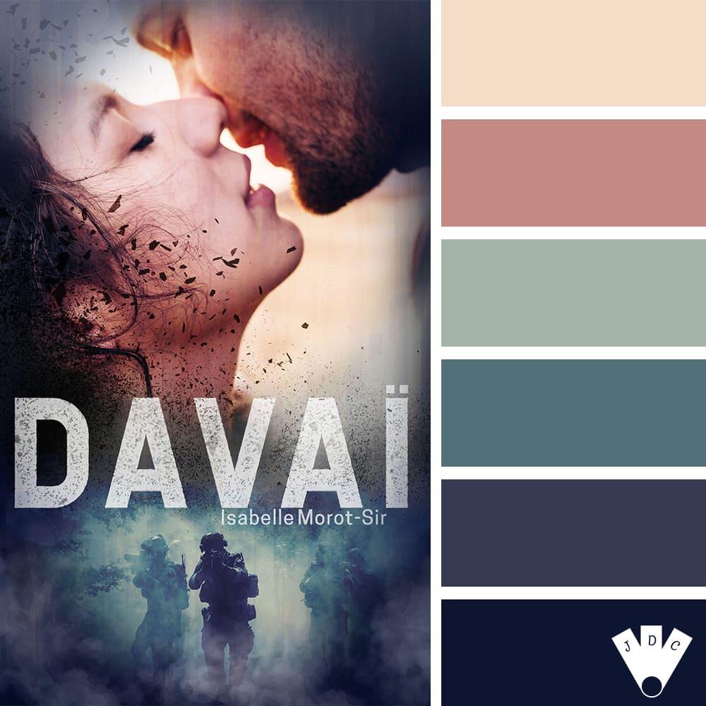 """Color palette littérairre du livre """"Davaï"""" de l'auteure Isabelle Morot-Sir"""