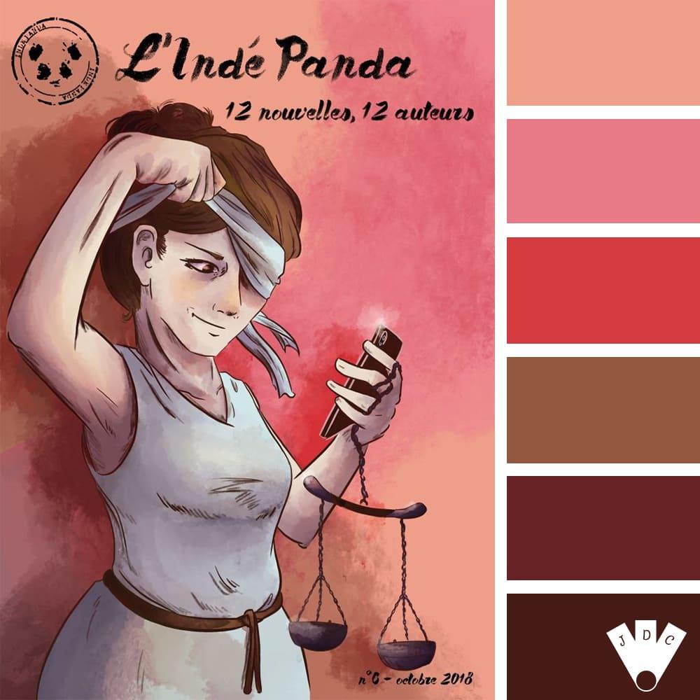 Color palette du magazine l'Indé Panda n°6