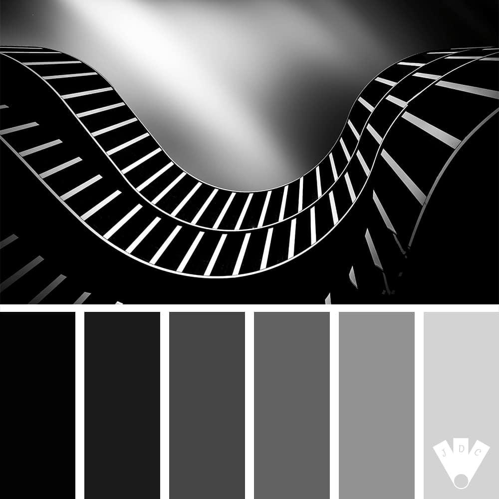 Color palette à partir d'une photo du complexe commercial Skyline Plazza par le photographe Philippe Simon