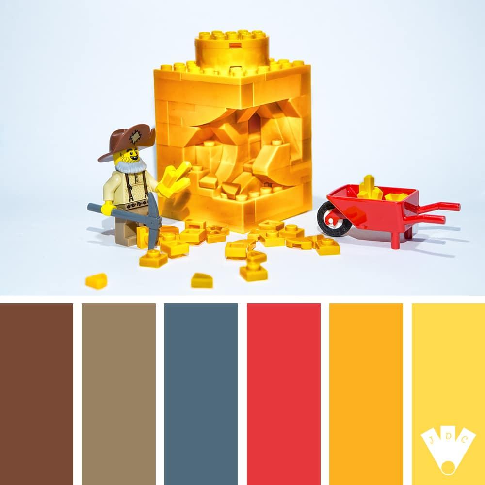 Color palette à partir d'une mise en scène en légo par le photographe Clato Mortese