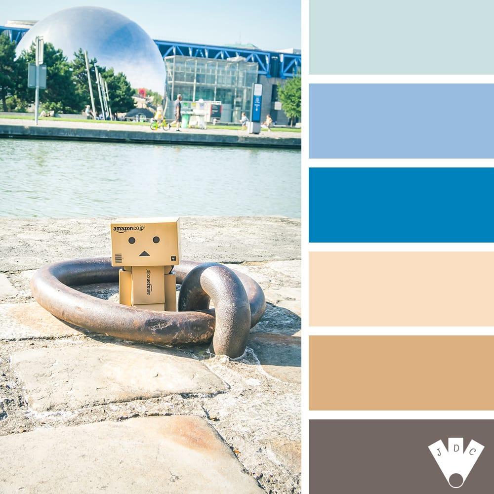 """Color palette à partir d'une photo de """"danbo à la Géode"""" par la photographe Callistta Photographie"""