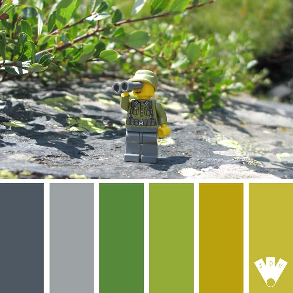 Color palette à partir d'une photo de légo par le photographe Franckybrique