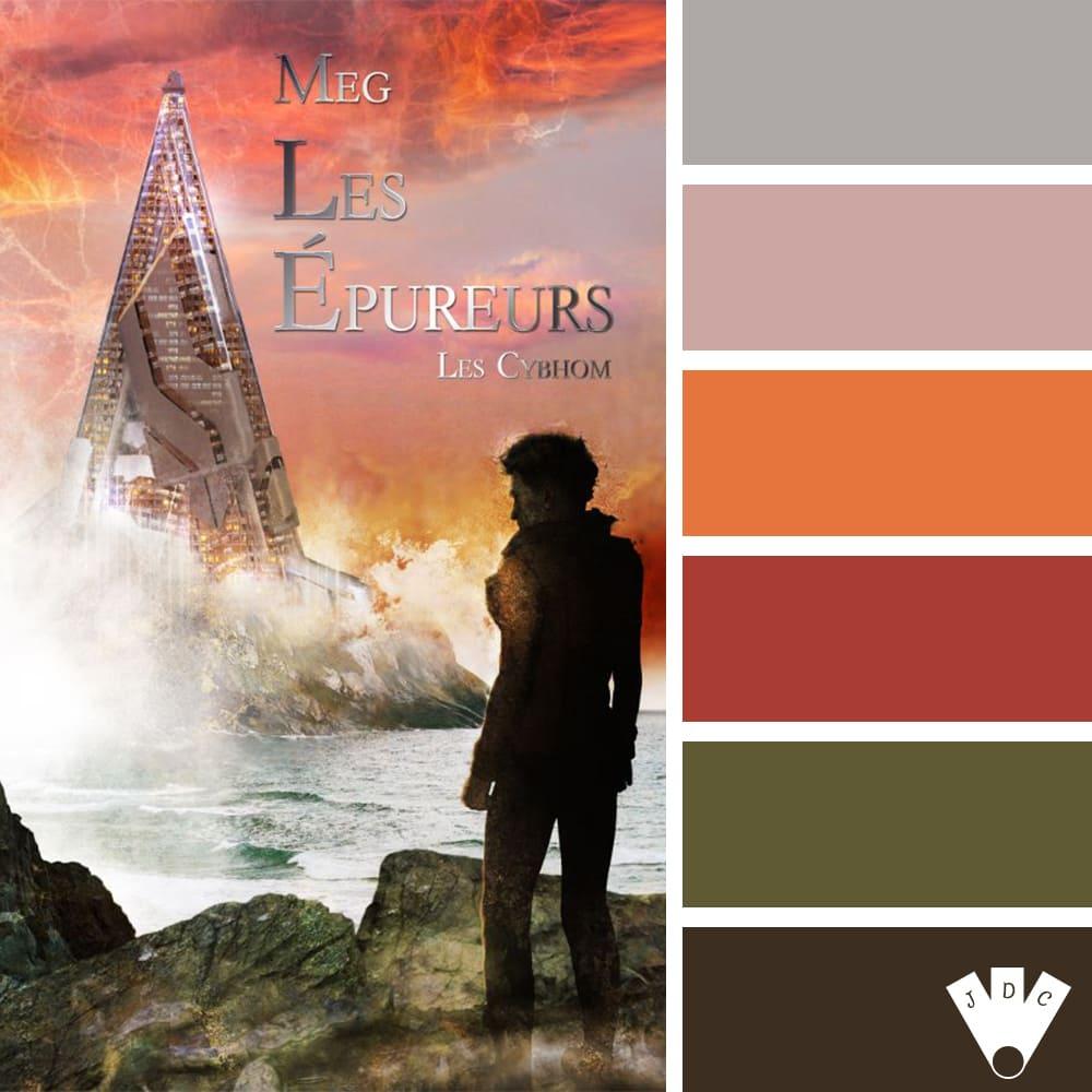 """Color palette du livre """"Les épureurs : les cybhom"""" de l'auteure MEG"""