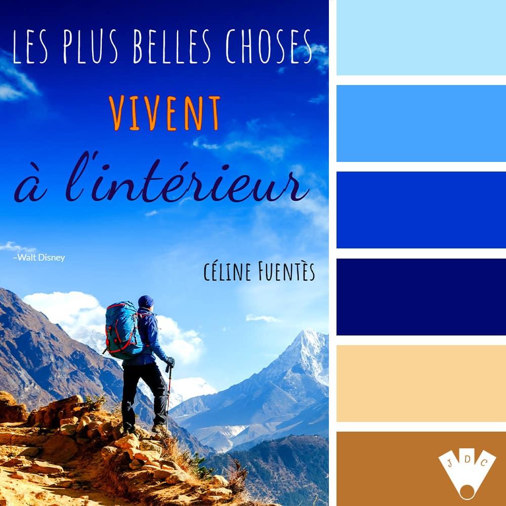 """Color palette à partir de la couverture du livre """"Les plus belles choses vivent à l'intérieur"""" de l'auteure Céline Fuentès."""
