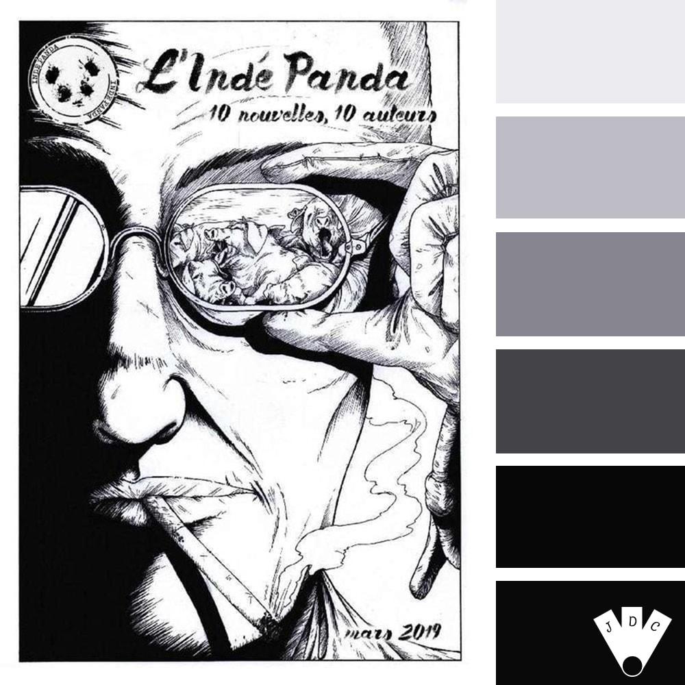 Color palette du magazine l'Indé Panda n°7