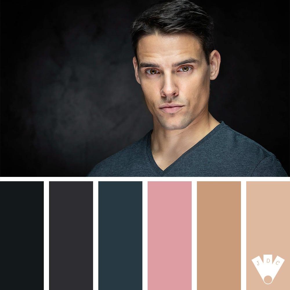 Color palette à partir d'une photo faite par le photographe OuiOuiPhoto et son modèle Marius