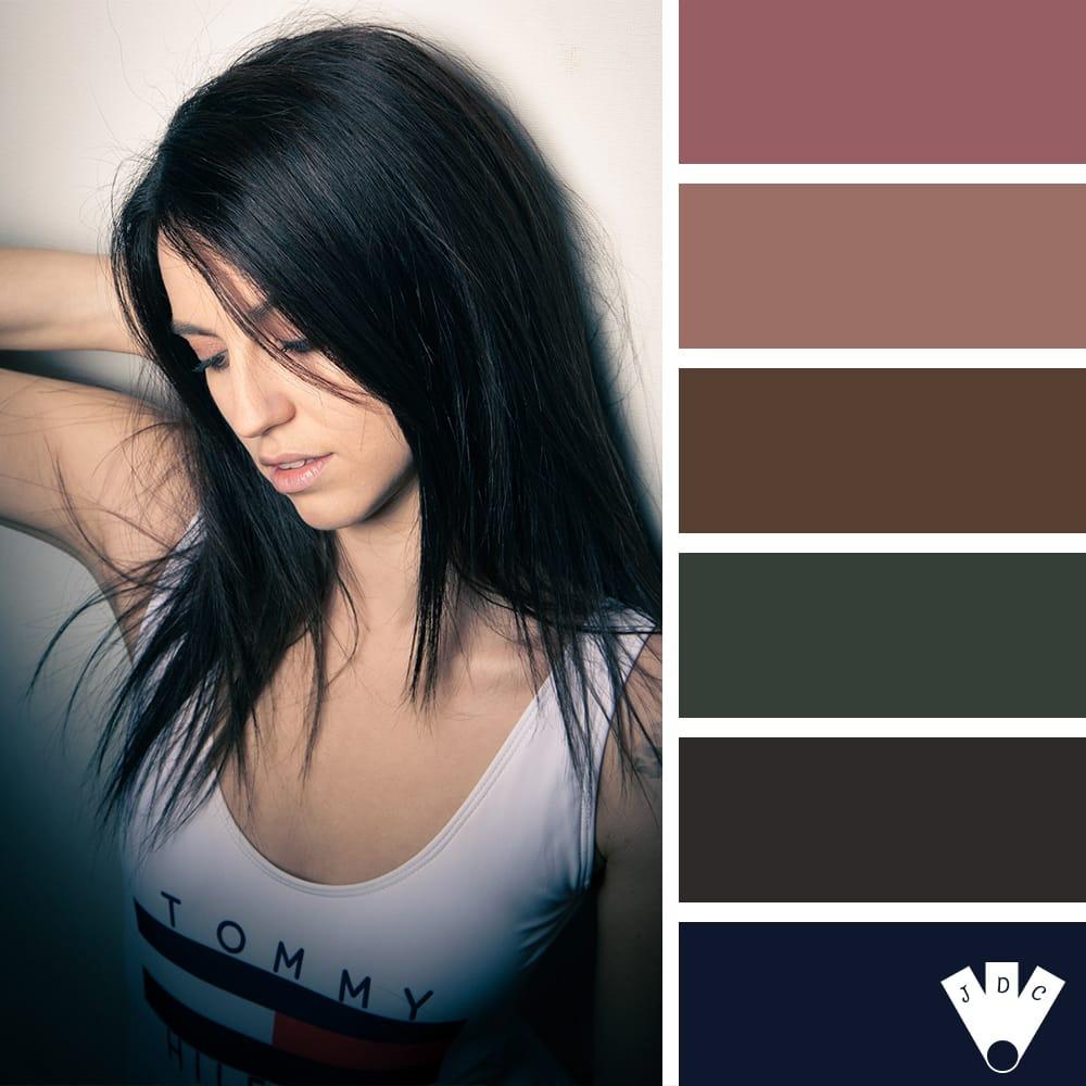 Color palette à partir d'une photo faite par le photographe OuiOuiPhoto et son modèle Laureen
