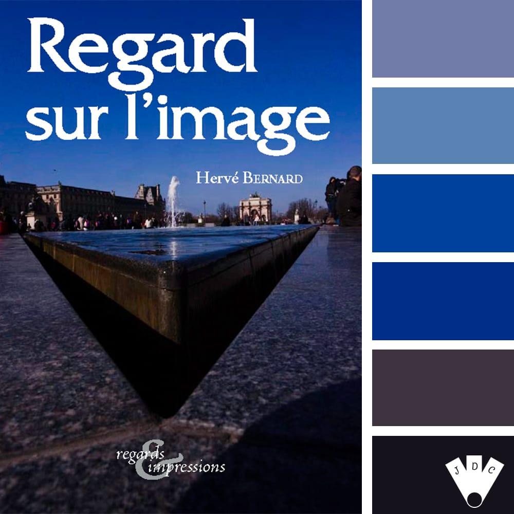 """Color palette à partir de la couverture du livre """"Regard sur l'image"""" du photographe Hervé Bernard"""