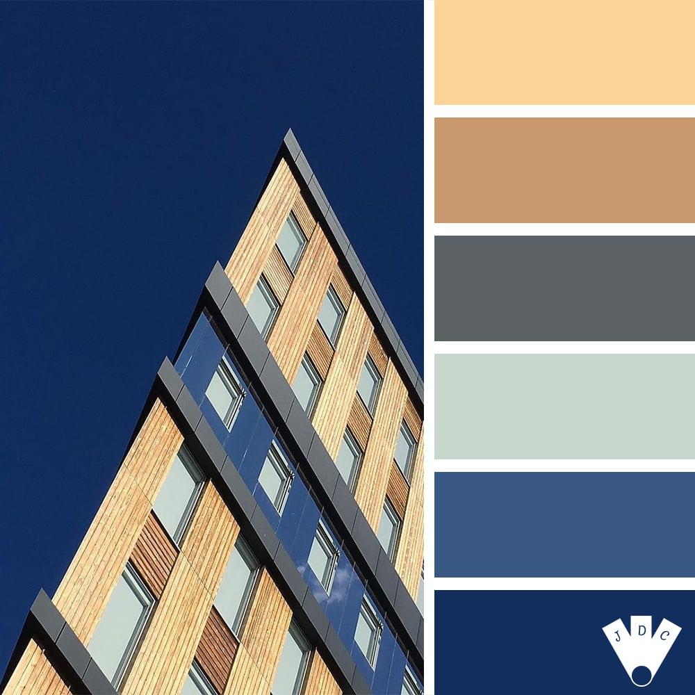 Color palette à partir d'une photo d'architecture par la photographe annyelleparis