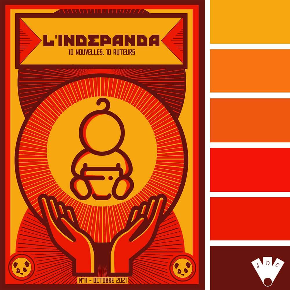 Color palette à partir de la couverture du magazine l'Indé Panda n°11
